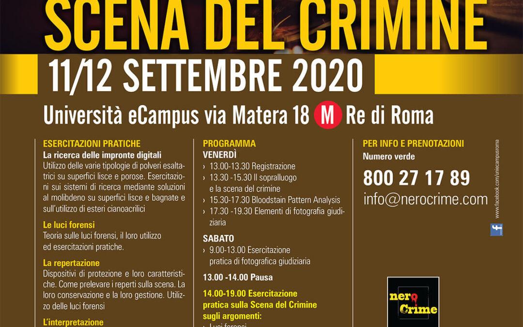 Tecniche di analisi della Scenadel Crimine – 11 e 12 settembre2020