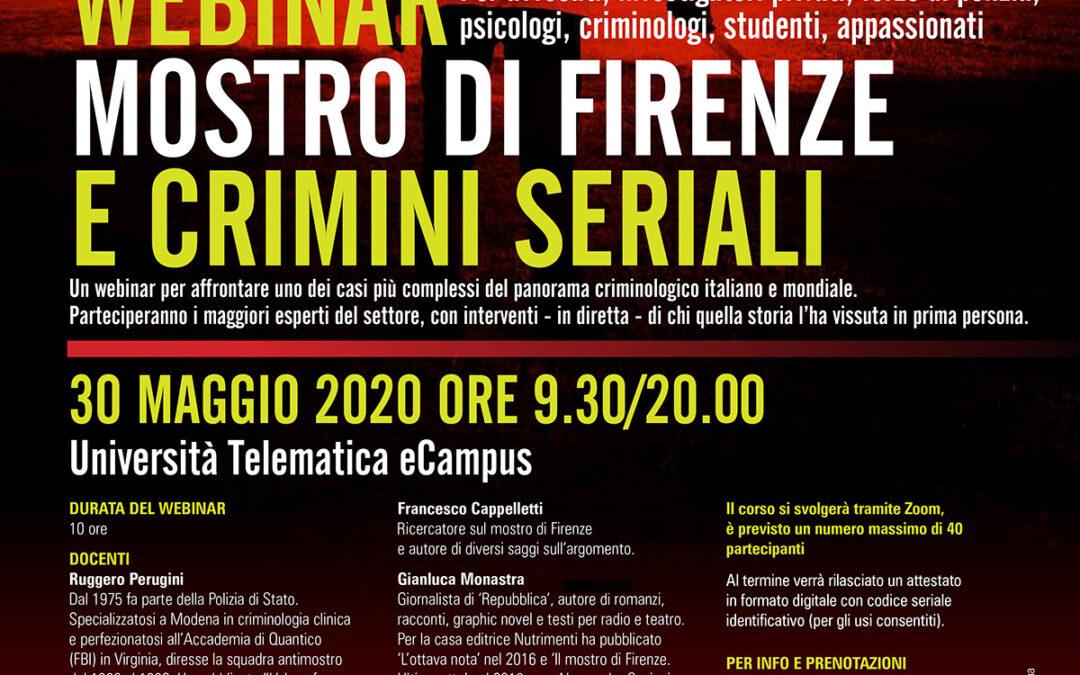 Webinar in  Mostro di Firenze e Crimini seriali