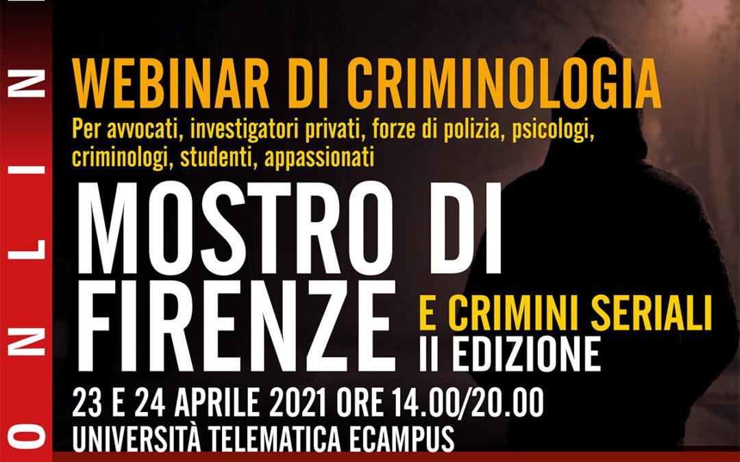 Webinar – Mostro di Firenze e Crimini Seriali