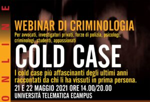 webinar criminologia cold case