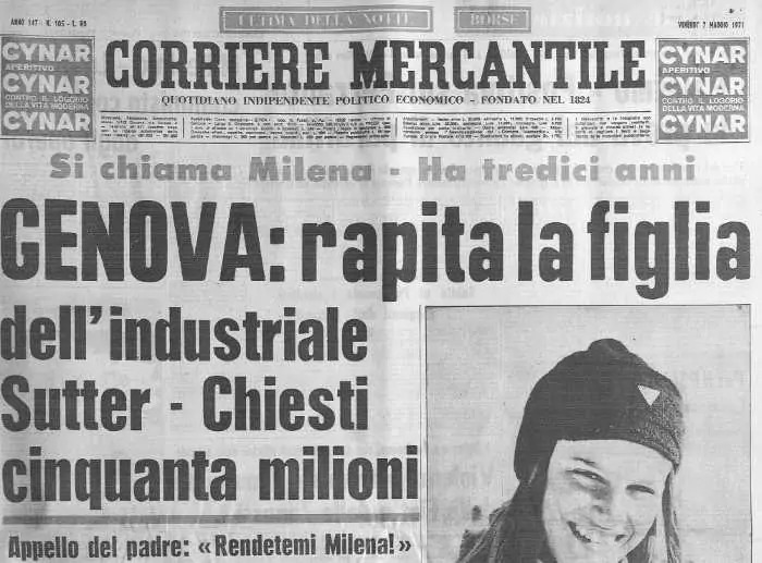 L'omicidio di Milena Sutter fu un trauma per l'Italia