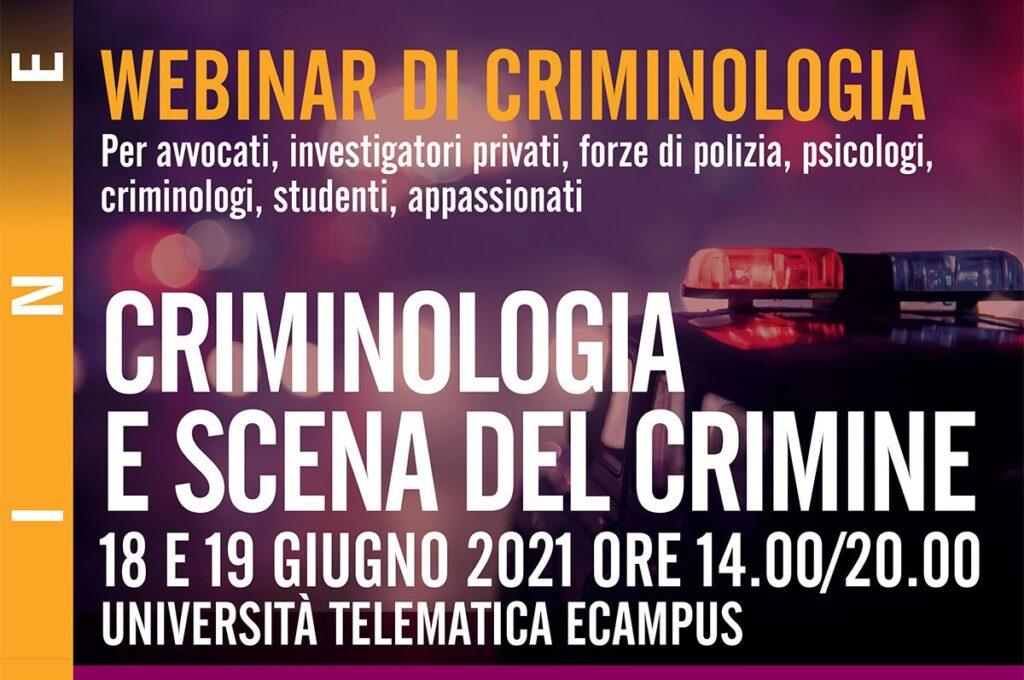 Webinar criminologia scena del crimine