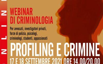 Webinar Profiling e Crimine