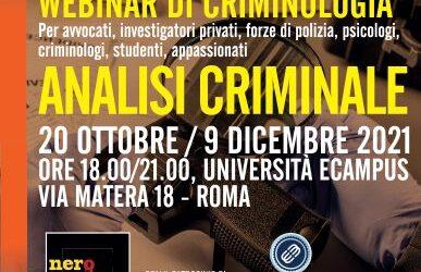 Webinar Analisi Criminale